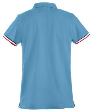 Polo Newton Clique lichtblauw achterzijde - Yipp & Co Textiles