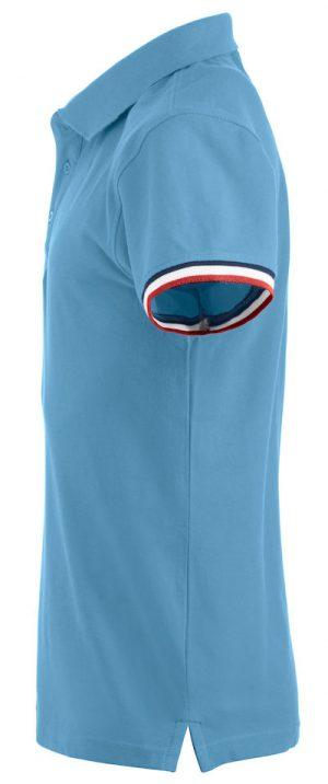 Polo Newton Clique lichtblauw zijkant - Yipp & Co Textiles