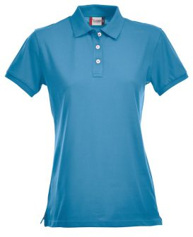 Polo Premium Stretch Clique Lady turquoise - Yipp & Co Textiles