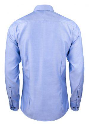 Overhemd Green Bow 01 Slim J. Harvest & Frost blauw achterzijde - Yipp & Co Textiles