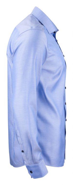 Overhemd Green Bow 01 Slim J. Harvest & Frost blauw zijkant - Yipp & Co Textiles