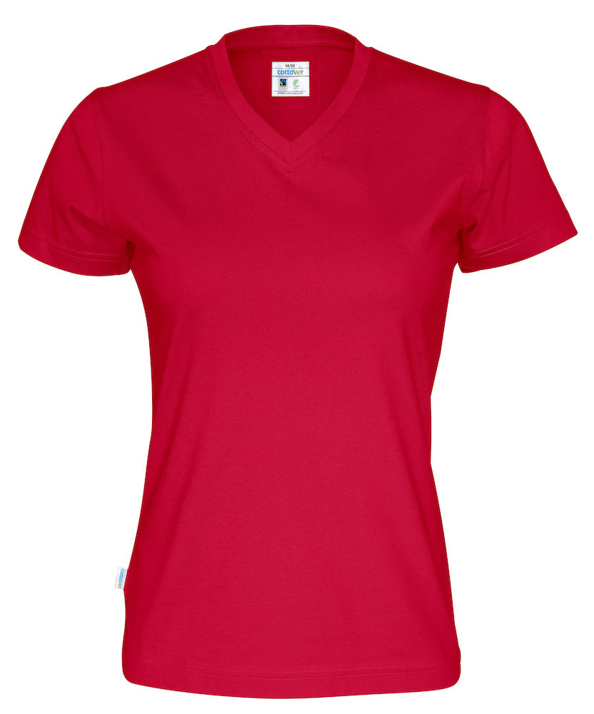 ad93f0533c6 T-shirt V-neck Cottover Lady