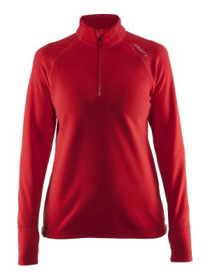 Fleece Half Zip Craft Lady Rood - Yipp & Co Textiles