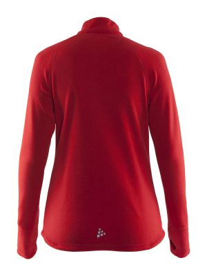Fleece Half Zip Craft Lady Rood achterzijde - Yipp & Co Textiles