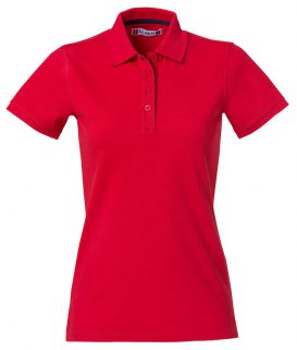 Polo Heavy Premium Clique Lady rood - Yipp & Co Textiles