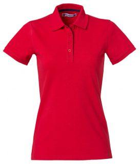 Polo Heavy Premium Clique Lady rood - Yipp & Co Textiles