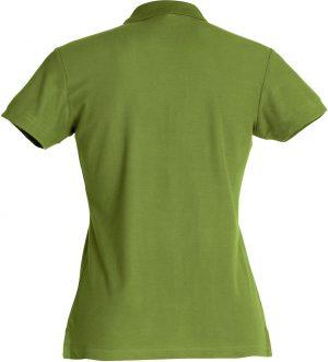 Polo Basic Clique Lady legergroen achterzijde - Yipp & Co Textiles