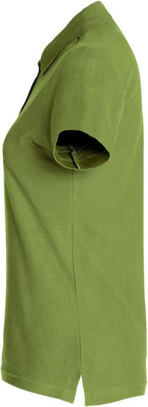 Polo Basic Clique Lady legergroen zijkant - Yipp & Co Textiles