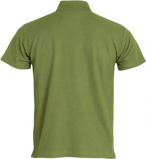 Polo Basic Clique legergroen achterzijde - Yipp & Co Textiles