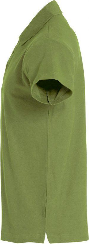 Polo Basic Clique legergroen zijkant - Yipp & Co Textiles