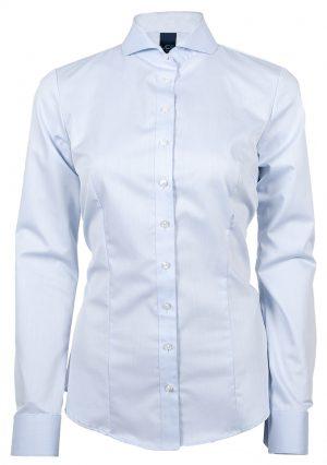 Overhemd Roos lange mouw Ledub Lady lichtblauw - Yipp & Co Textiles