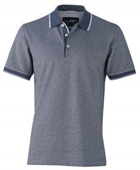 Polo Tweekleurig James & Nicholson navy-wit - Yipp & Co Textiles